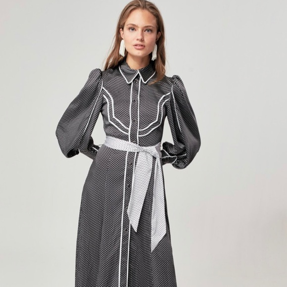 New! C/MEO Collective Satin Nearby Maxi Dress